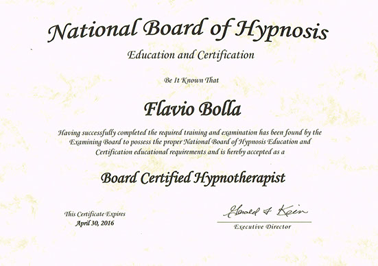 Anerkannt durch die National Board of Hypnosis. Hypnosetherapie in Wil, St. Gallen.